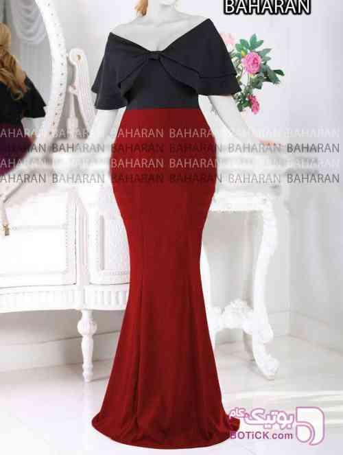 سارافن مرجان آبی لباس  مجلسی