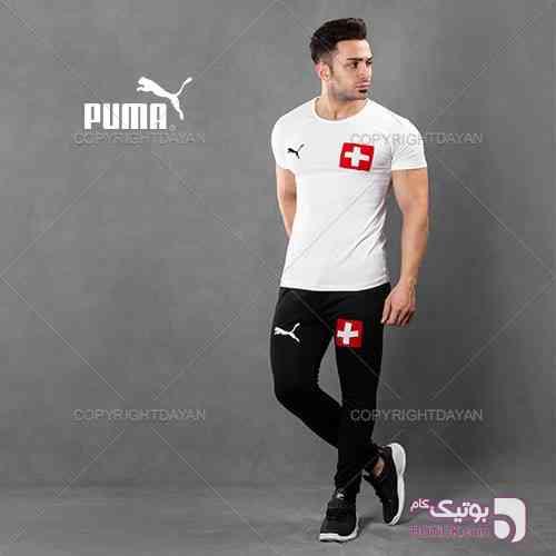 تیشرت و شلوار Switzerland مدل Rabal مشکی ست ورزشی مردانه
