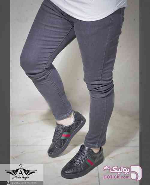 شلوار جین مردانه نقره ای شلوار مردانه