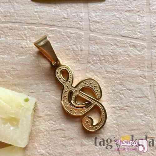 آویز گردنبند طرح کلید سل زرد گردنبند