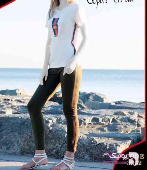 سِت بلوز شلوار گوچی نیو سفید لباس راحتی زنانه