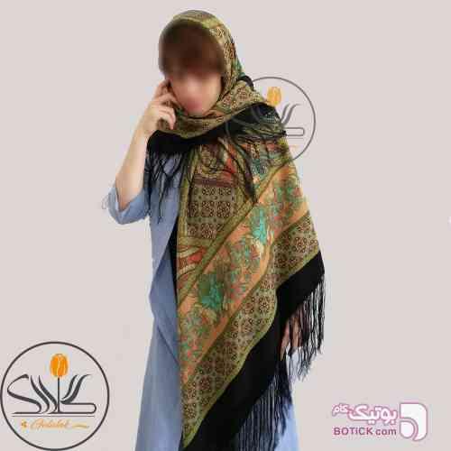 روسری ترکمنی طرح ایتالیایی نارنجی شال و روسری