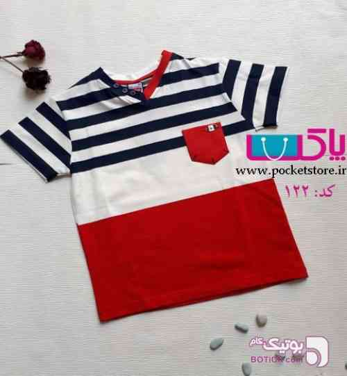 تی شرت تک پسرانه قرمز لباس کودک پسرانه