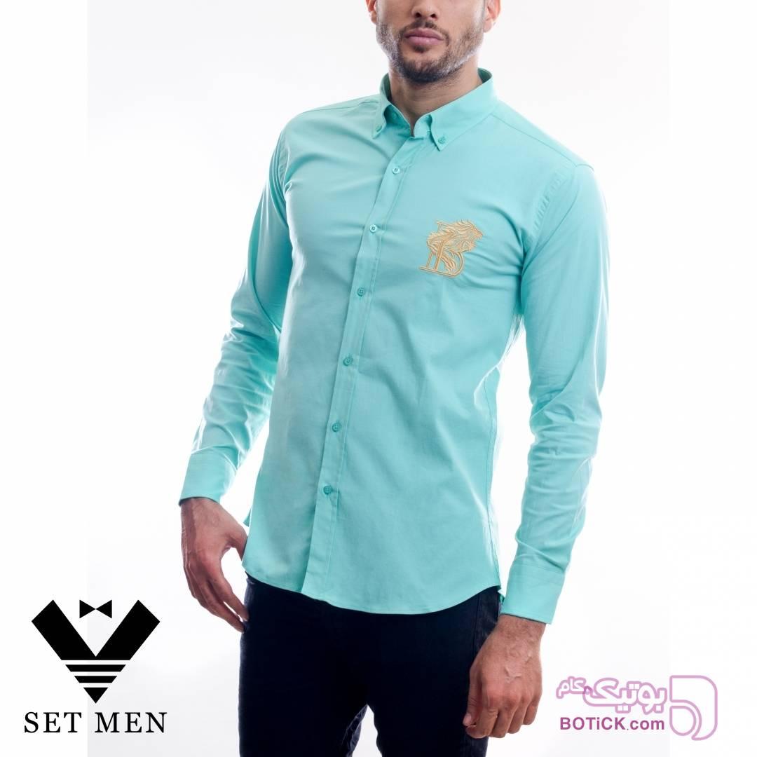 پیراهن فیروزه ای پيراهن مردانه