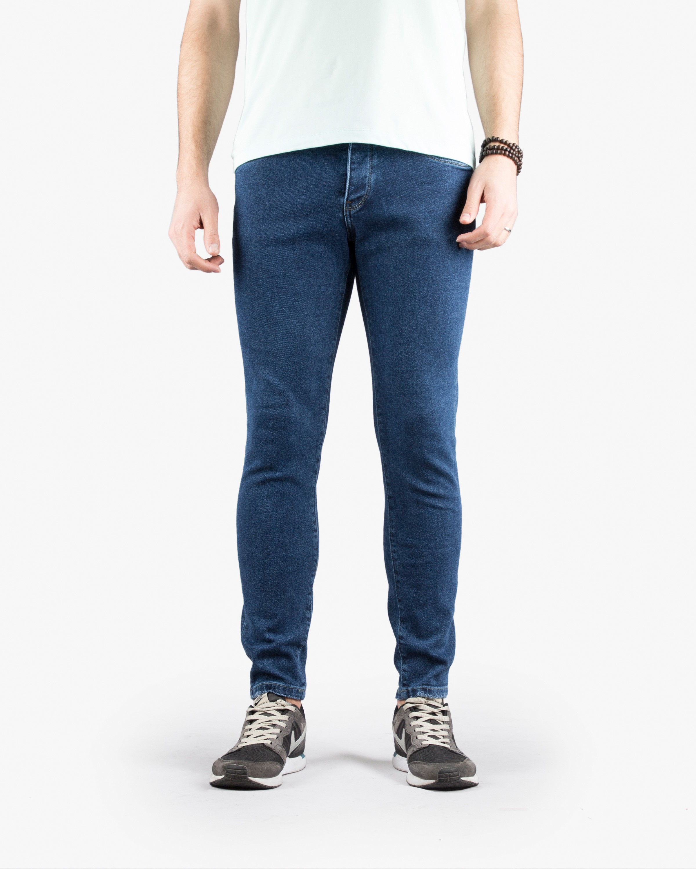 شلوار جین جذب Skinny سورمه ای شلوار مردانه