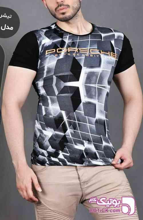 تیشرت آستین کوتاه 3 بعدی طوسی تی شرت مردانه