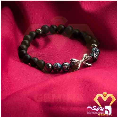 دستبند مردانه عقاب کد O210 مشکی دستبند و پابند