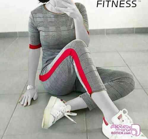 ست ورزشی  نقره ای ست ورزشی زنانه
