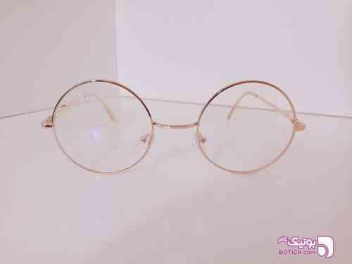 عینک فریم طبی گرد طلایی عینک آفتابی