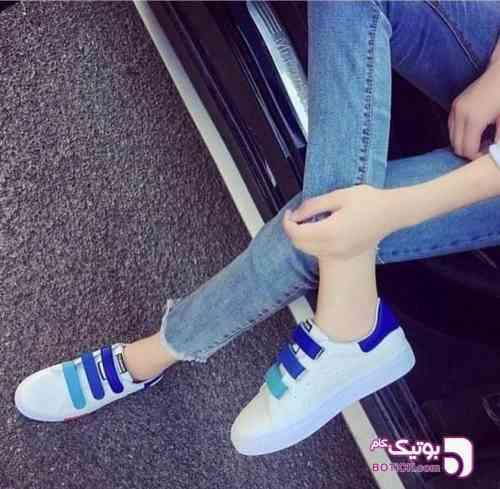 Adidas - Stan Smith آبی كتانی زنانه