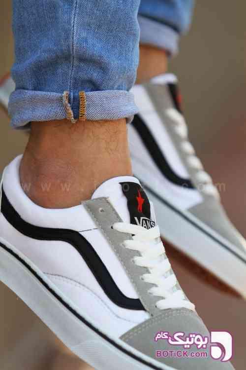 کفش کتانی مدل ونس اسکول طوسی كتانی مردانه