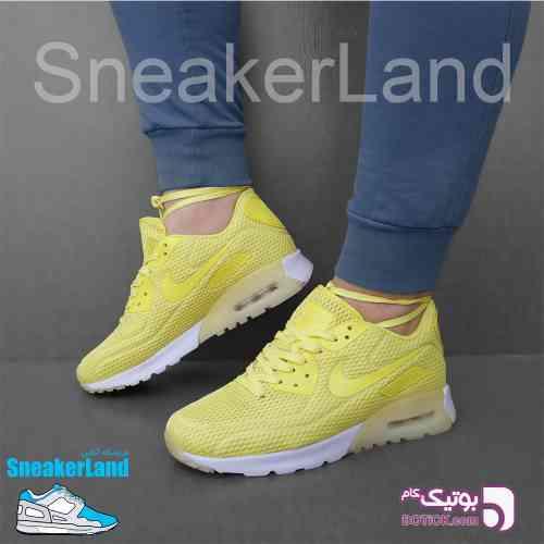 Nike Air Max 90 Ultra Breathe زرد كتانی مردانه