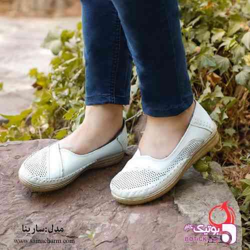 مدل سارینا سفید كفش زنانه