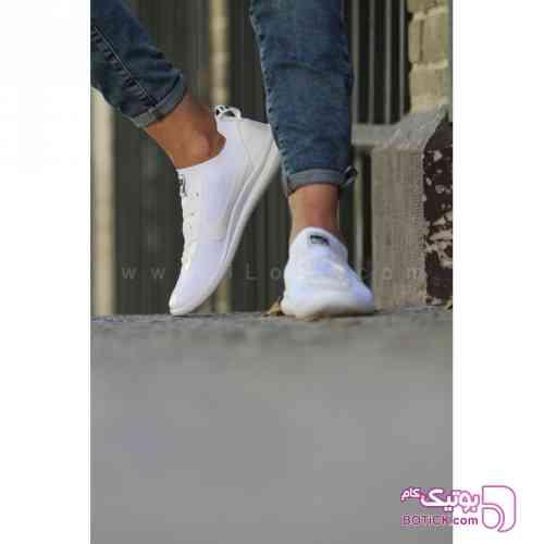 کتانی جورابی مردانه نایک مدل 1425 سفید كتانی مردانه