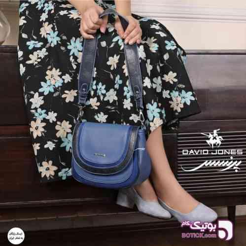 کیف زنانه  DAVIDJONES آبی كيف زنانه