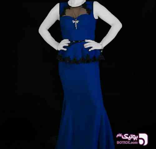 لباس شب مجلسی آبی لباس شب