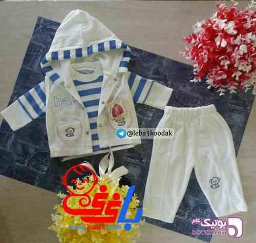 سویشرت بلوز و شلوار سفید لباس کودک پسرانه