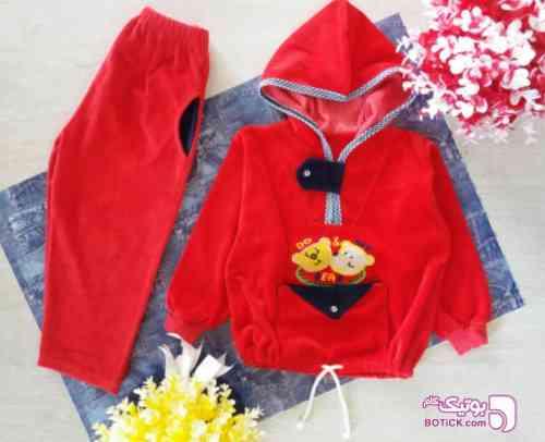 سویشرت و شلوار قرمز لباس کودک پسرانه