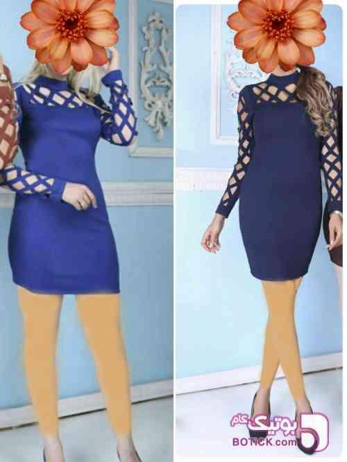 عروسکی طرح لوزی آبی لباس  مجلسی