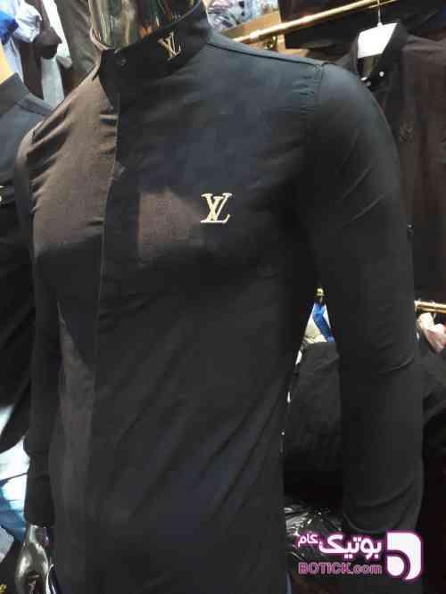 پیراهن مشکی برند LV مشکی پيراهن مردانه