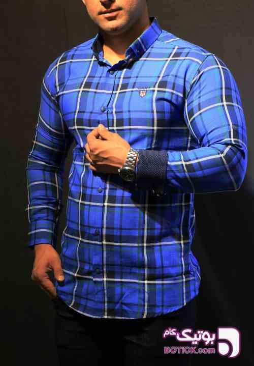 پیراهن  آبی پيراهن مردانه
