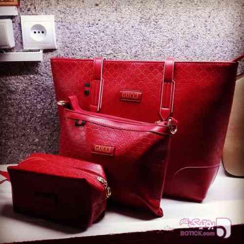کیف 3 تیکه با هم مشکی كيف زنانه