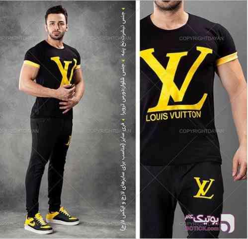 تیشرت شلوارلوییس ویتون مشکی تی شرت مردانه