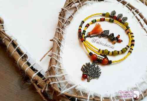 دستبند پاییزی زرد دستبند و پابند