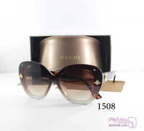 Gucci قهوه ای عینک آفتابی