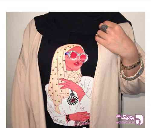 تیشرت مشکی تی شرت زنانه
