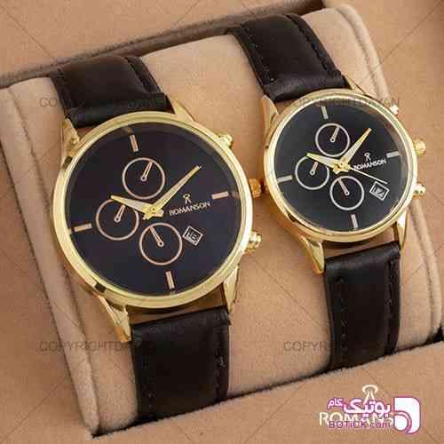 ست ساعت مردانه زنانه Romanson مشکی ساعت