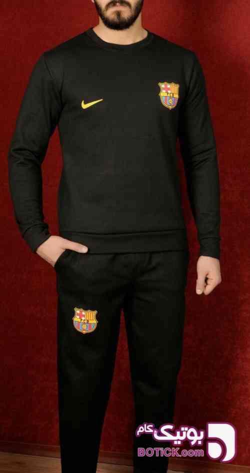 سوییشرت شلوار بارسا مشکی ست ورزشی مردانه
