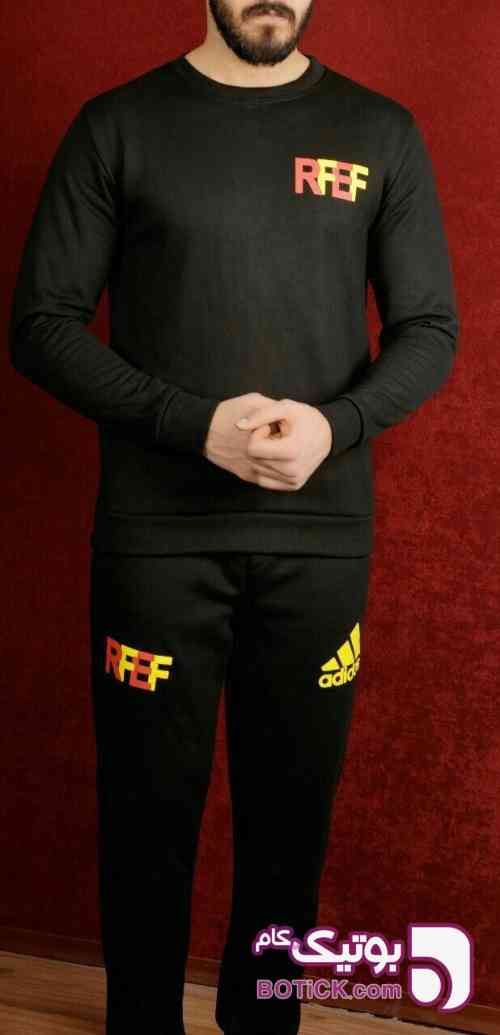 سوییشرت شلوار RFEF مشکی ست ورزشی مردانه