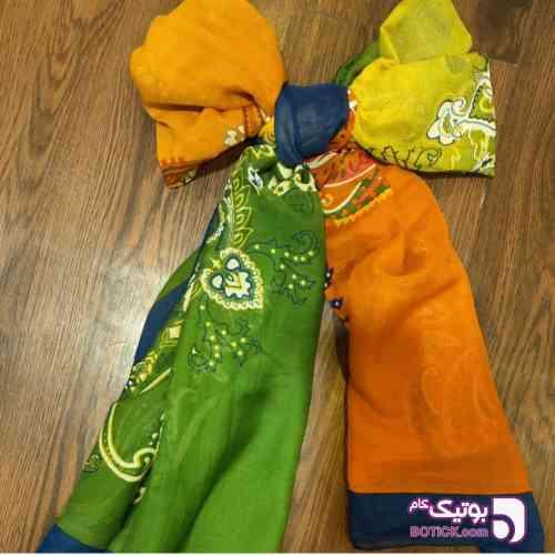 حراج شال دو طرفه سبز شال و روسری