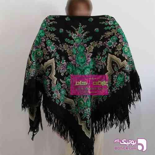 روسری ترکمنی پشمی اصیل سبز شال و روسری