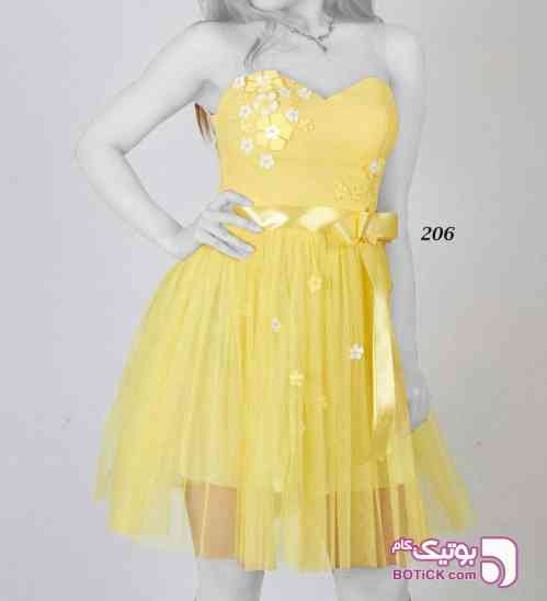سارافون کد 206 زرد لباس  مجلسی