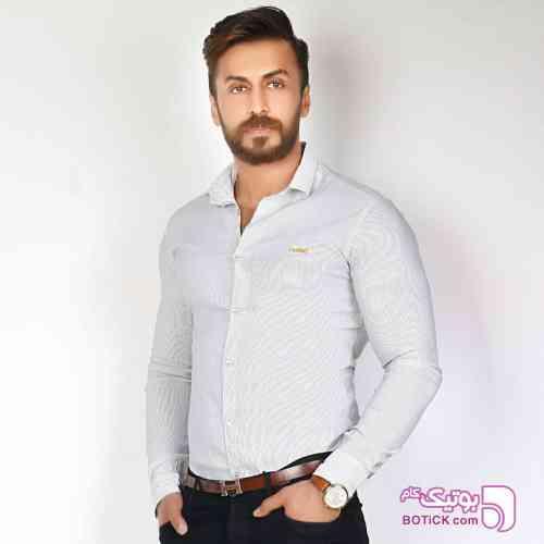 پیراهن مردانه اسپرت سفید پيراهن مردانه