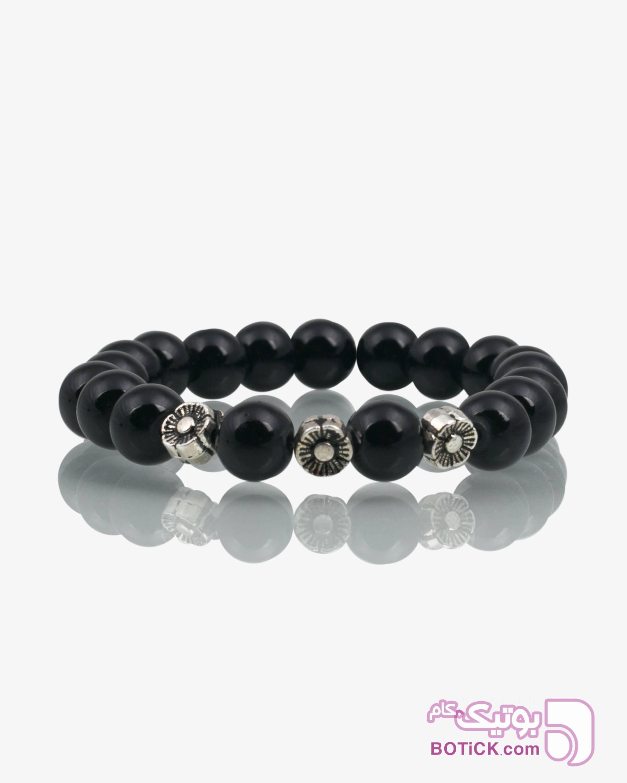 دستبند دخترانه مشکی مهره ای مشکی دستبند و پابند