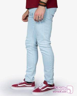 شلوار جین مردانه آبی روشن آبی شلوار مردانه