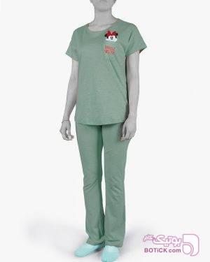 تیشرت و شلوار طرح میکی موس  - سبز سبز لباس راحتی زنانه