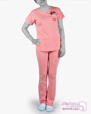 تیشرت و شلوار طرح میکی موس  - صورتی صورتی لباس راحتی زنانه