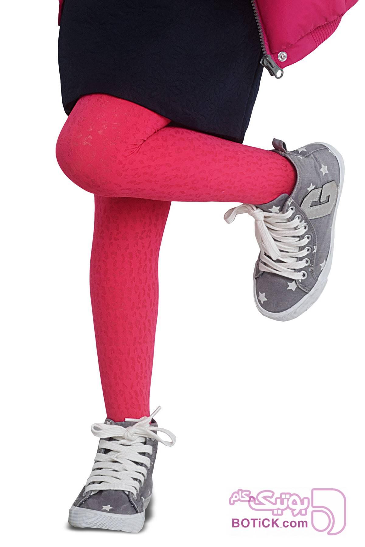 جوراب شلواری دخترانه طرح Irene  پنتی  زرشکی لباس کودک دخترانه