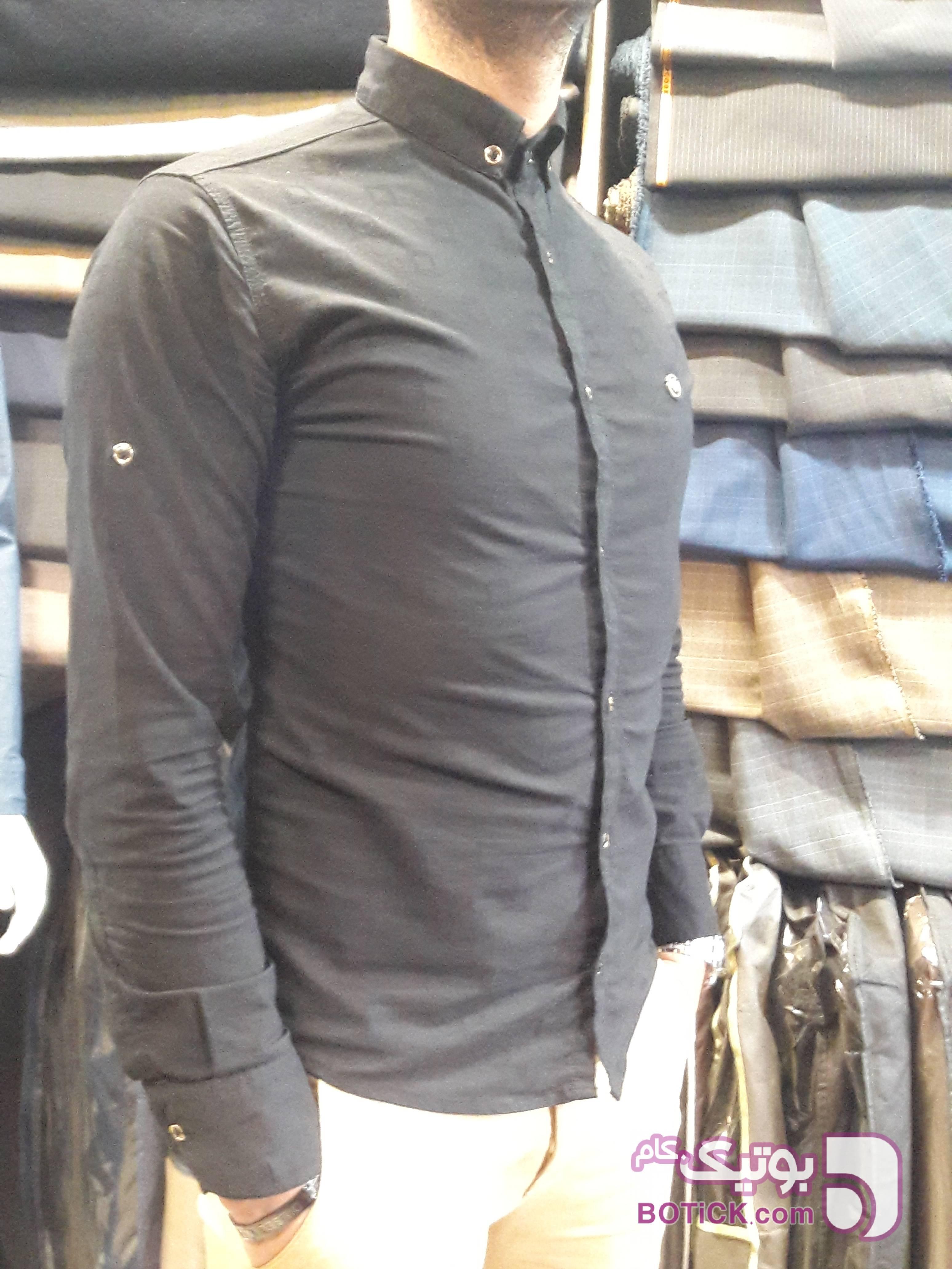 پیراهن کش مشکی پيراهن مردانه