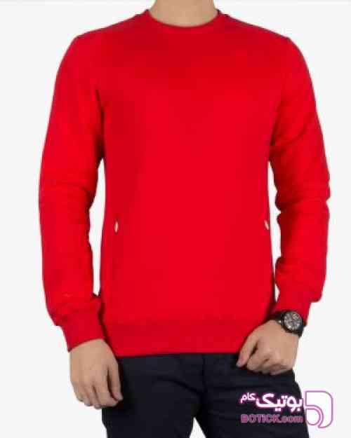 بلوز مردانه قرمز آستین بلند - قرمز سبز 97 2018