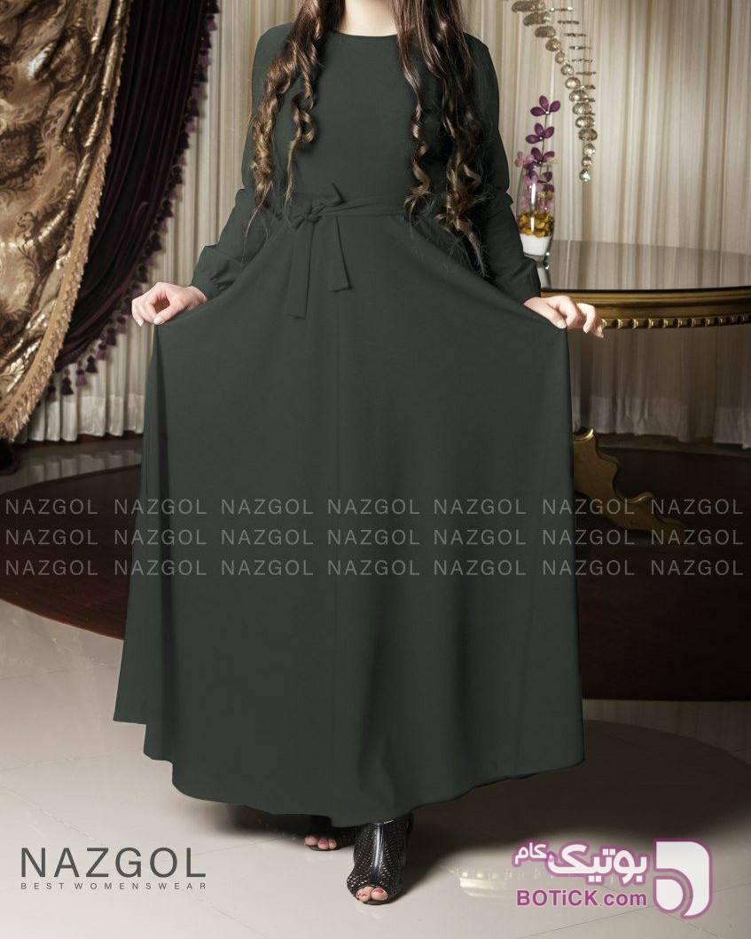 ماکسی افرا سبز لباس  مجلسی
