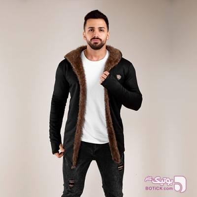 شنل خزدار مردانه Gucci مدل T7452 مشکی کاپشن و بارانی مردانه