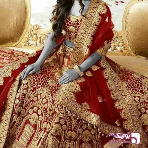 لباس عروس هندی قرمز 97 2018