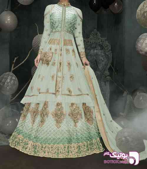 لباس هندی  سبز 97 2018