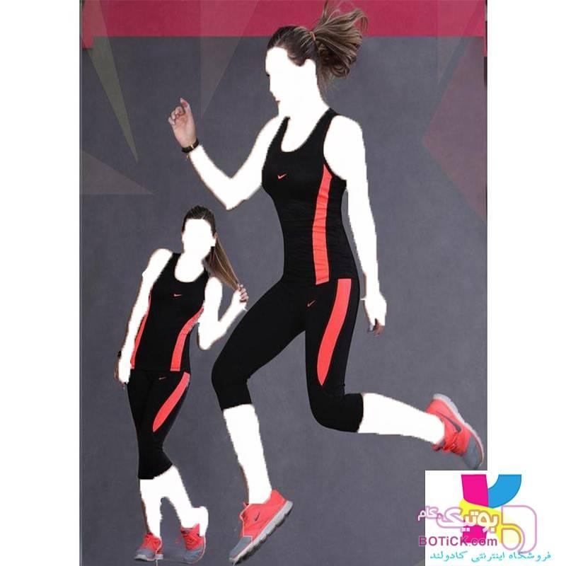 ست ورزشی نایک ۱۰۰ درصد ویزکوز سبز ست ورزشی زنانه