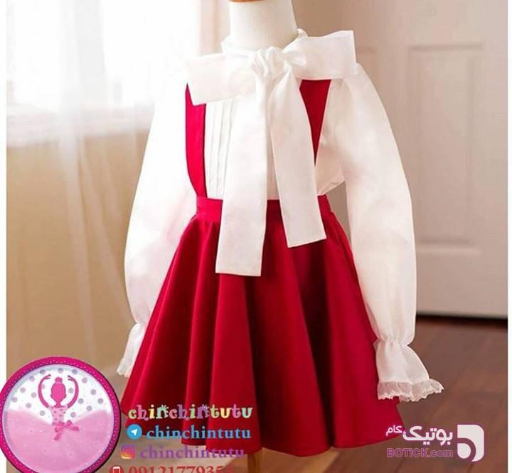 پیراهن شیک دخترانه مشکی لباس کودک دخترانه